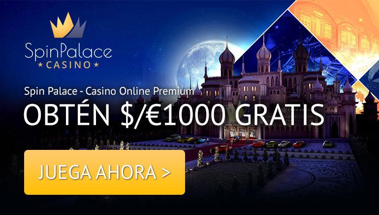 ¡SPIN PALACE TE DA LA BIENVENIDA! OBTÉN 1000 € BONO